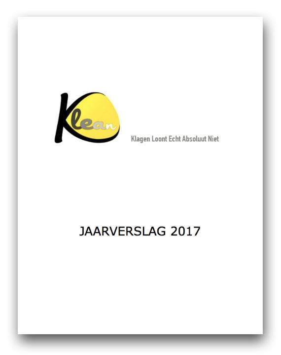 Jaarverslag 2017 KLEAN