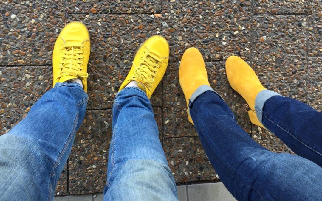 Papa, waarom draag jij altijd gele schoenen?
